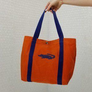 Vintage 1980s UF Gators fan canvas tote bag